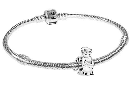 Pandora Damen-Armband Engel der Liebe zauberhafter Silberschmuck, elegante Geschenkidee für modische Frauen, 39493-20 20 cm
