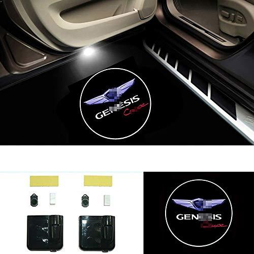 WXQYR 2pcs Car Led Light Welcome Light Lámpara de cortesía Genesis Coupe para G70 80 90 Accesorios para automóviles