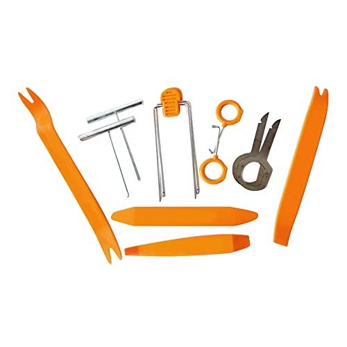 iSpchen 12Pcs Kit de Herramientas de desmontaje del Panel del Coche, Kit de Herramientas de desmontaje de Audio Para desmontar El Panel Frontal de La Radio del Coche del Salpicadero
