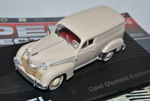 Ixo Opel Olympia Kastenwagen Transporter Creme Beige 1950-1953 Inkl Zeitschrift Nr 65 1/43 Modell Auto mit individiuellem Wunschkennzeichen