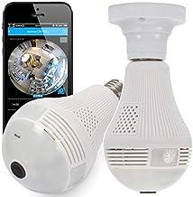 Câmera lâmpada espiã ip segurança com visão noturna sensor de presença alarme e alerta no celular android e ios