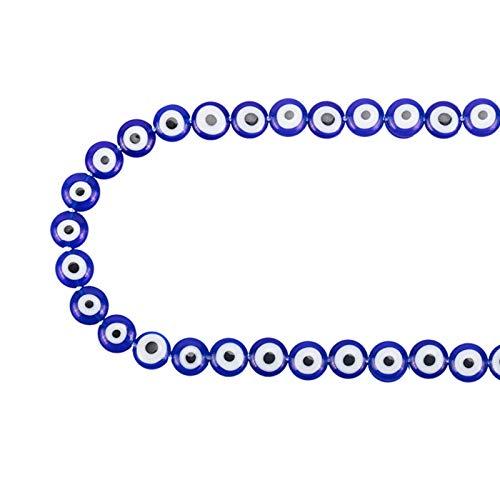 NBEADS 1 Hebra (Alrededor de 41 Piezas) Azul Plano Redondo Hecho A...