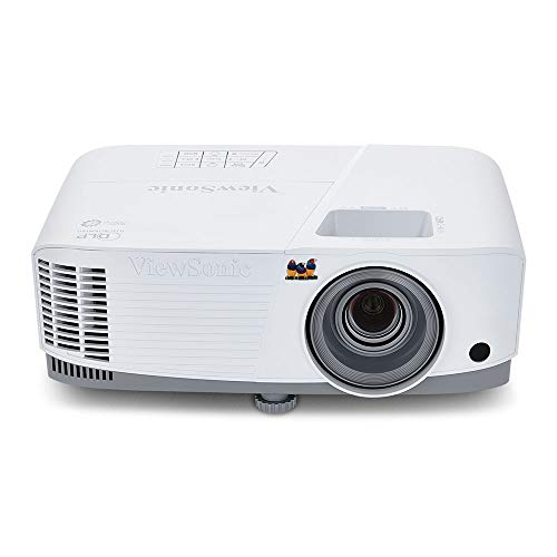ViewSonic 3800 Lumens SVGA High Brightness Projector for Home and Office with HDMI Vertical Keystone and 1080p Support (PA503S), White/gray