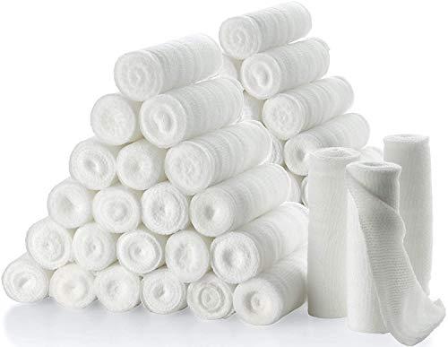 """Rotoli di benda di garza - confezione o 48, 4"""" x 4,1 metri per rotolo dibenda di garza di gradomedico e bendaggio estensibilepermedicazione di tutti i tipi di ferite e kit di pronto soccorso di MEDca."""