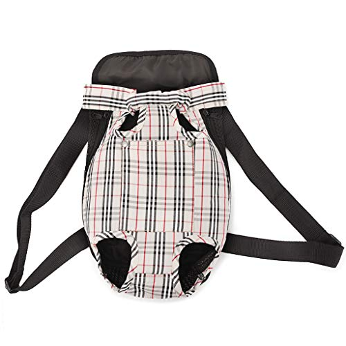 Dog Cat Carrier Backpack, Breathable Pet Travel Legs Out Backpack, Portable...