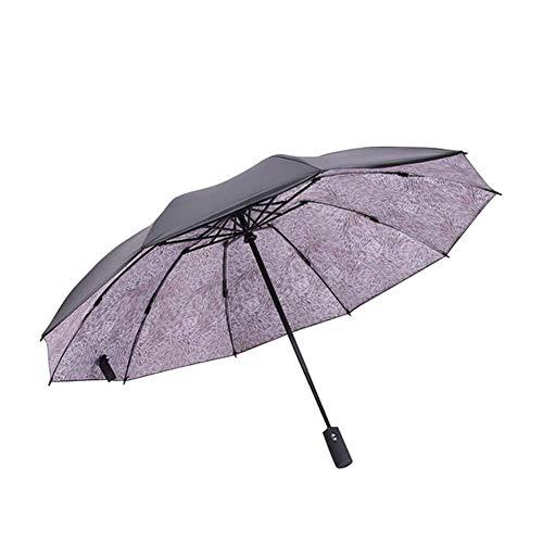 CEyyPD Paraguas paraguas plegable reversible paraguas automático 10 huesos paraguas paraguas resistente al viento compacto y ligero y conveniente viaje de negocios camping