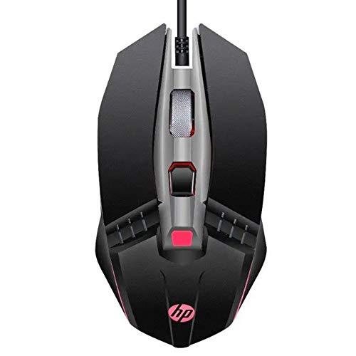 Mouse HP Gamer USB M270 Preto - Sensor Óptico Ambidestro Resoluções até 2400 DPI e Iluminação Multicolor - 7ZZ87AA