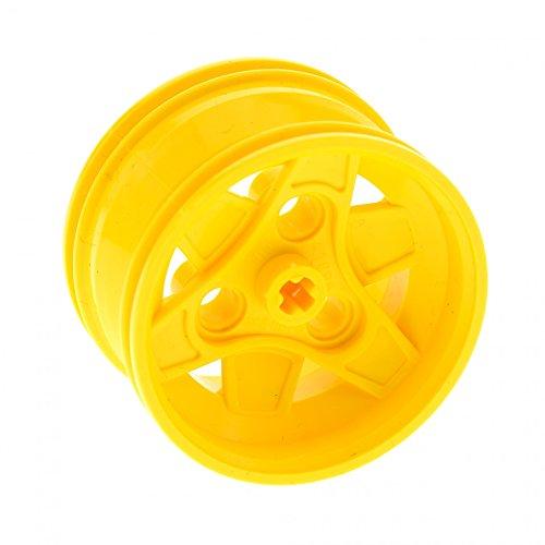 Bausteine gebraucht 1 x Lego Technic Felge gelb 43.2mm D. x 26mm Solo 3 Pin Löcher Räder Rad für Set 8069 8455 7344 8265 41896