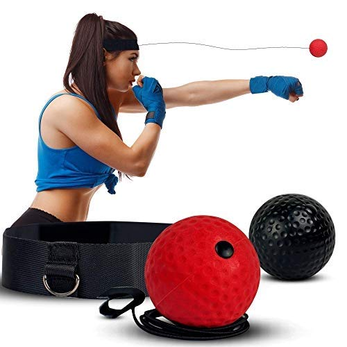 Deluxura Box Ball Stirn für Boxtraining Reflex Training Reaktionsball Boxen Training