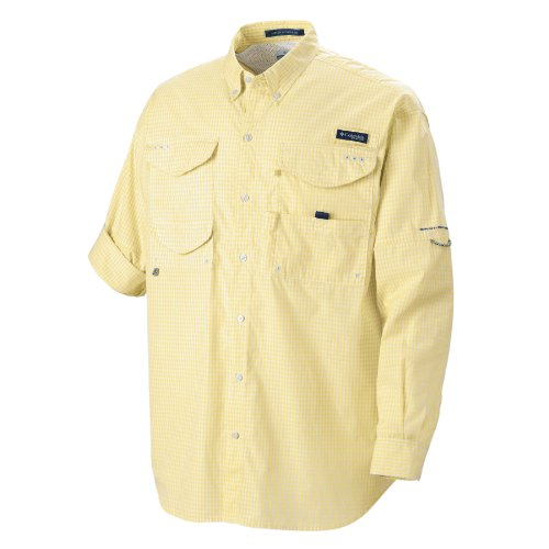 Columbia Herren Super Bonehead Classic LS Shirt, Lemon Whip, Gingham, S