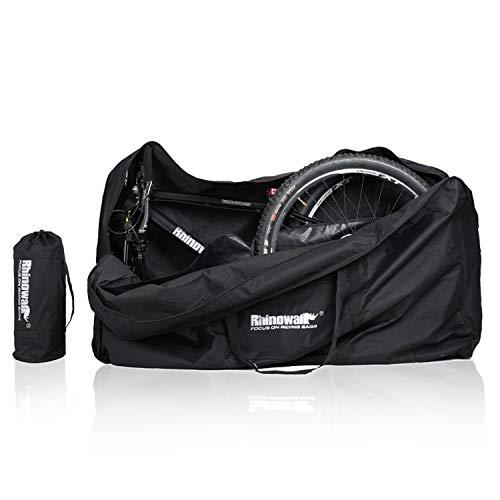 Asvert Fahrrad Transporttasche,wasserdichte Fahrradtasche für Fahrräder, 22-27,5 Zoll, Fahrrad Transport Abwahrungstasche Gepäcktasche für Mountainbike (H80-W28-L140, Um 26 Zoll)