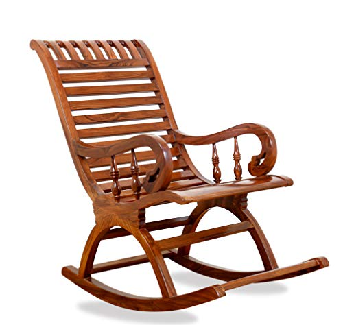 Globel Interiors India Sheesham Wood Traditional Arm Rest Chair ( Brown)