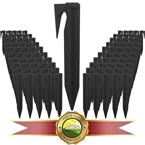 100 Stück SHS Haken Erdspieße für Mähroboter Zubehör SET Befestigung für Begrenzungskabel Suchkabel Kabelhalter/kompatibel mit GARDENA/BOSCH/HUSQVARNA/WORX/HONDA/ROBOMOW/iMow