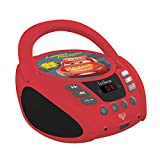 Lexibook Disney Pixar Cars Flash McQueen Radio lecteur CD,Entrée line-in, Pile ou...