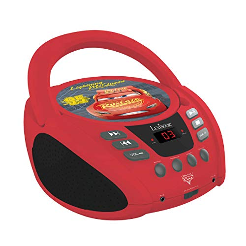 Lexibook RCD108DC Disney Pixar Cars McQueen Radio-CD-Player, Rot/Schwarz