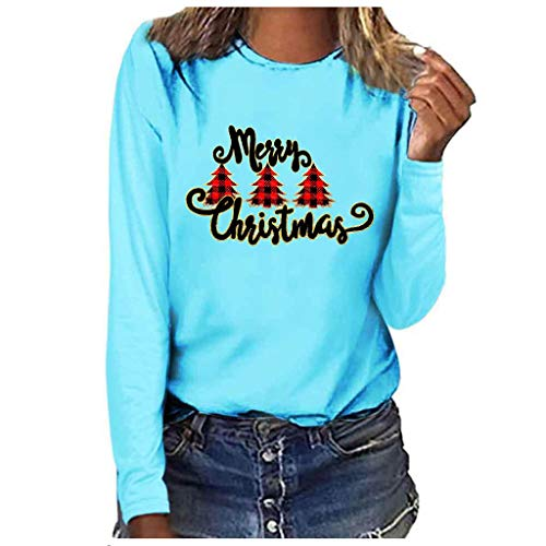 Cheapest Price! ZOMUSAR Merry Christmas Women Fashion Plus Size Print Round Neck Long Sleeved T-Shir...