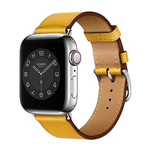 Correa de pulsera de bucle de cuero real de negocios para Apple Watch band 6 SE 5 4 42MM 38MM 44MM 40MM Correa para iWatch 3 2 1 correa de reloj