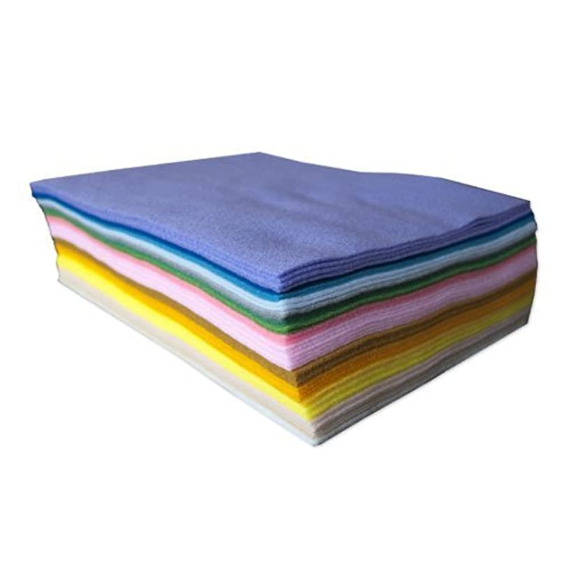 Pastel Acrylic Craft Felt: 50 Sheets, Assorted