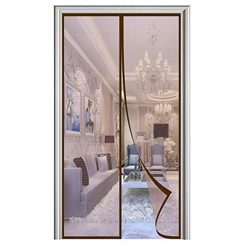Mosquitera Puerta Magnetica, Adsorción Magnética Plegable Anti Mosquito Insecto Mosquitera, para Puertas de Salón Balcón Corredor-Brown|| 70x200cm(27x78inch)