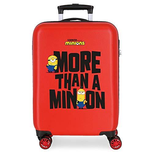 Minions More Than A Minions Maleta de Cabina Rojo 38x55x20 cms Rígida ABS Cierre de combinación Lateral 34L 2,66 kgs 4 Ruedas Dobles Equipaje de Mano