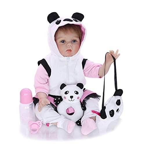 ZTLY Reborn Baby Doll, Baby Doll Silicone Cuerpo Completo, Traje de Cumpleaños Apto para 3 Años Cumpleaños, con Hermosa Pequeña Ropa Traje