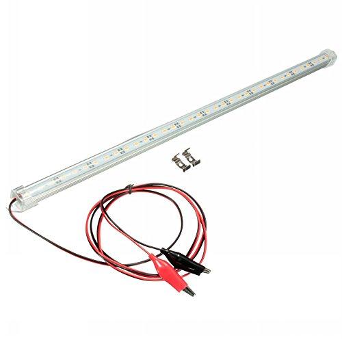 Tira de luz LED MFPower de 12V, 30cm, color blanco frío, para colocar en vehículos (5630SMD)