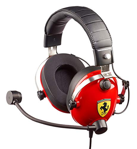 Thrustmaster T.Racing Scuderia Ferrari Edition (Gaming-Headset, 50mm Treiber, abn. Richtmikrofon, Memoryschaum m. Gelkissen, PS4 / Xbox One / PC)