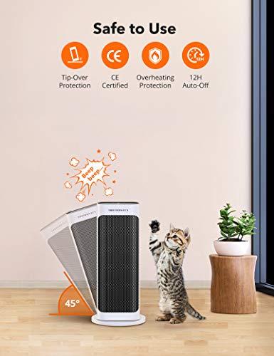 41o1nR9hZXL - TaoTronics Fan Heater, Ceramic Fan Heater with Remote Control 2 Heating Levels (2000W / 1200W), Bathroom Energy-Saving…