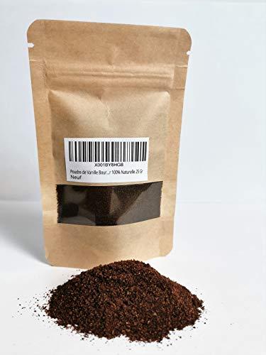 Poudre de Vanille Bourbon de Madagascar 100% Naturelle - Gousse de Vanille Entières Moulue 25 Gr