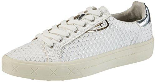 Tamaris Damen 23604 Sneaker, Weiß (OFFWHT. STR. # 925), 42 EU