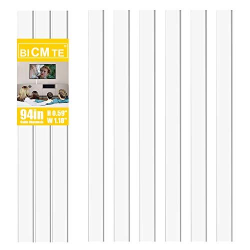 Canaleta Cables | Canal Cables pared Sistema de gestión de cableado | Canales portacables Blanco, cubrecables 6pcs