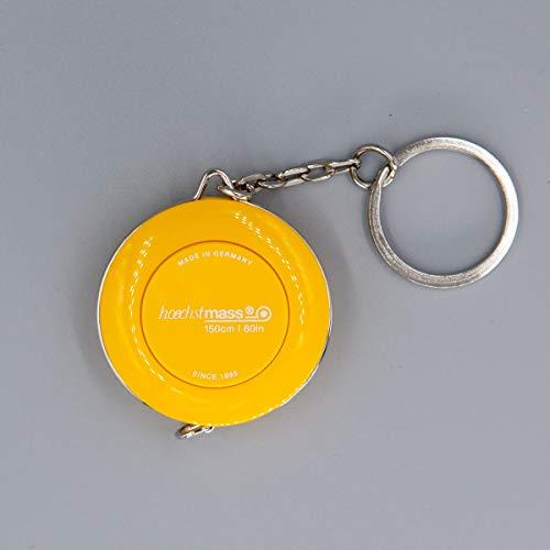 150cm/60inch Yellow Mini Flexible Pocket-roller Tape Measure Keychain Ruler hoechstmass PICCO Germany