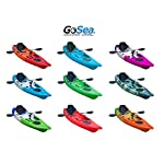 GoSea Glide Single Sit on Top Fishing Kayaks Deluxe Bundle with Paddle and Deluxe Padded Seat | Premium 1+1 Kayak for Adult with Child Seat Ideal for Sea Surf