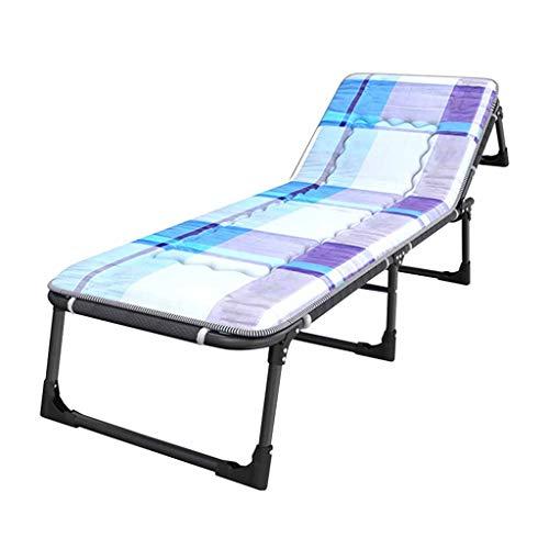 Lits de Camp et hamacs Lit Se Pliant D'invité Bureau Nap Lounge Chair Lit De Logement D'hôpital Capacité Extérieure De Lit De Camping en Plein Air 300kg Mobilier de Camping
