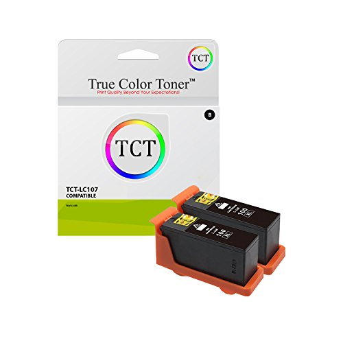 TCT Compatible Ink Cartridge Replacement for Lexmark 100XL 100 XL 14N1068 Black High Yield Works with Lexmark Genesis S815 S816, Interact S605 S301 Printers (510 Pages) - 2 Pack