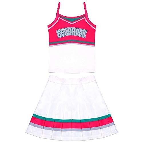 UNiiyi Zombies Addison/Eleven Cheer Kostüm mit Perücke Charakter Outfit Kinder Film inspiriert Cheerleader Kleid