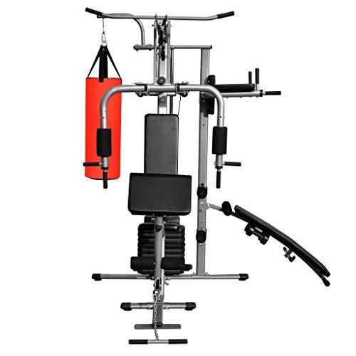 Tidyard Fitness Kraftturm Multifunktionaler Heimtrainer mit Boxsack Fitness Power Tower Multifunktionales Heimtrainer mit Boxsack Sportartikel Fitness Krafttrainingsgerät