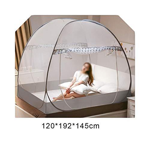 Accessoires voor slaapkamerdecoratie Yurt Klamboe Nee Voor Eenpersoons Tweepersoonsbed Mosquitera Luifel Netting Kinderbed Tent Home Decor Outdoor-120X192X145cm Grijs-