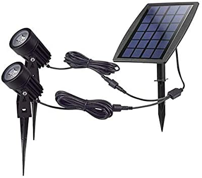 DINGLILIGHTING Solar Powered Garden Spotlights for Tree,Waterproof Outdoor Solar Spot Lights,Outdoor