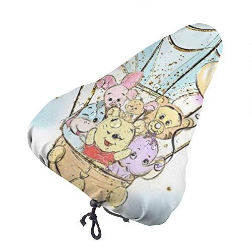 DNBCJJ Coprisedile per bicicletta, Winnie the Pooh, impermeabile, resistente alla polvere, per attività all'aperto