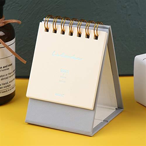 hgkl Calendario 2021 2021 Serie de Color sólido Mini Desk Calendar Calendario de Escritorio portátil de Escritorio para tardar en la Lista de programación (Color : Gray)