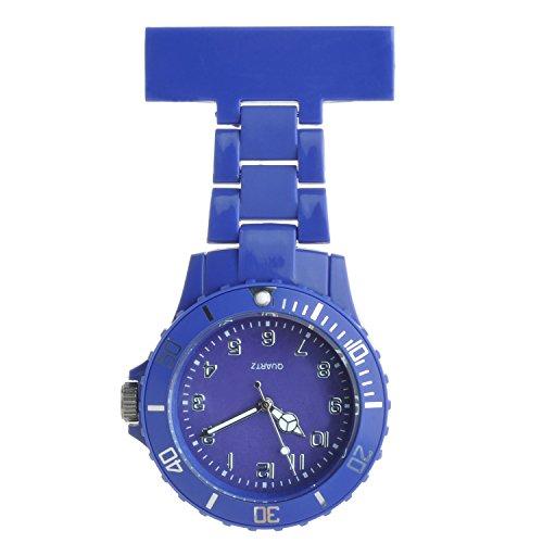 Ellemka - Mujer Hombre Enfermera | Reloj Enfermeria | Pantalla Analógica | Movimiento de Cuarzo | Cinta de Suspensión de Plástico ABS | NS2102 - Azul Oscuro