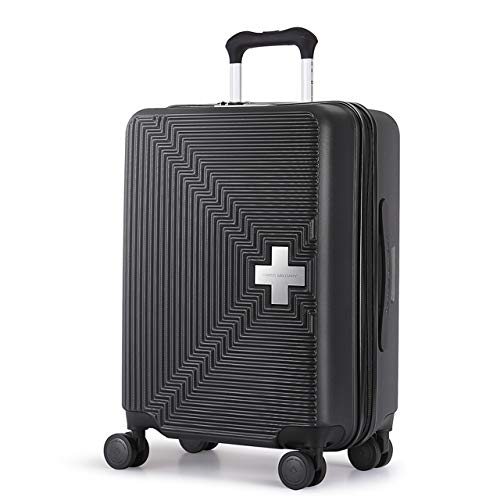 [スイスミリタリー] Fortress フォートレス スーツケース Type M ファスナータイプ TSAロック 超軽量 傷防止 一年保証 [SWISS MILITARY]/Mサイズ 26インチ 69L ブラック(SM-M726/Noble Black)