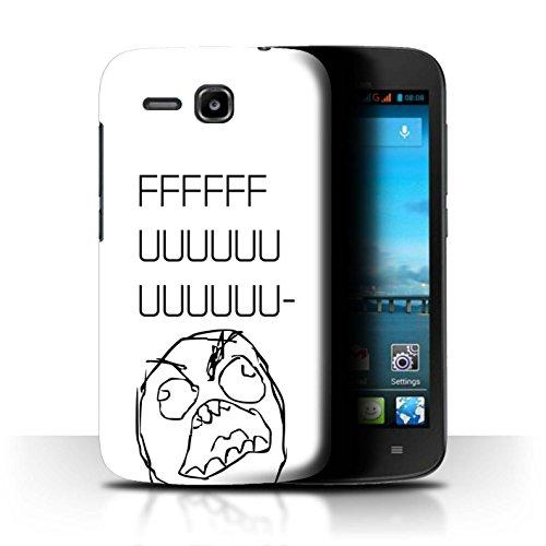 Stuff4 Hülle/Hülle für Huawei Ascend Y600 / Rage Guy Gesicht Muster/Lustiges Internet Memes Kollektion