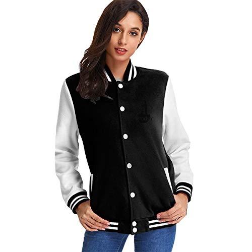 London Big Ben Frau Mädchen Baseball Uniform Jacke Sweatshirt Mantel für Sport Gym L
