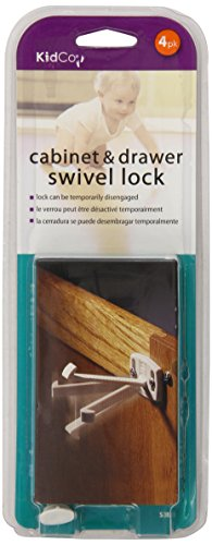 Kidco Swivel Cabinet & Drawer Lock Set - (4 locks in each set) by Kidco Swivel Cabinet and Drawer Lock (English Manual)
