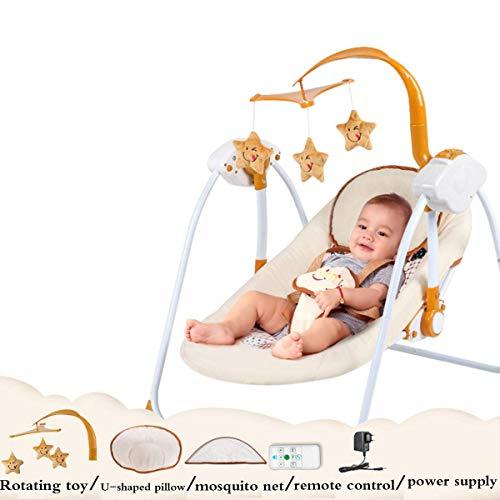 Wghz Baby Swing Electric Cradle Bed, Multifunction Adjustable High-Tech Baby Supplies Swing Rocker Sleeping Basket Bed Mom's Best Gift