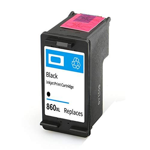 Cartucho de tinta 860XL 861XL, repuesto para impresoras HP Deskjet D4268 C4488 C4588 OfficeJet J5725 Cartuchos de tinta compatibles con negro y tricolor negro