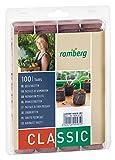 Romberg Kokos-Quelltabletten ø 36 mm (100 Stück; für Kräuter, Blumen und Gemüse; Start-Dünung; torffrei), Braun