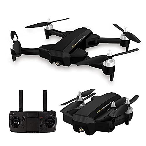ZHCJH Drone GPS con cámara 4K HD para niños Adultos y Principiantes Drone Plegable FPV RC Quadcopter con Retorno automático a casa Sígueme Circle Fly Tap Fly Incluye baterías y Coche